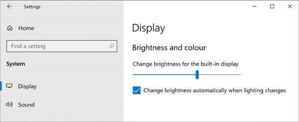 Cách điều chỉnh độ sáng màn hình win 10