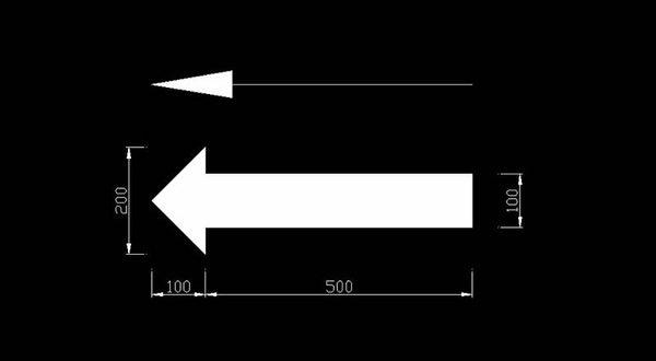 Vẽ mũi tên trong cad bằng lệnh LE