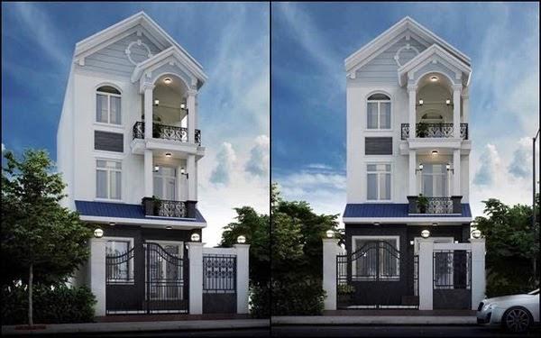 Mẫu nhà phố 3 tầng mái thái đẳng cấp
