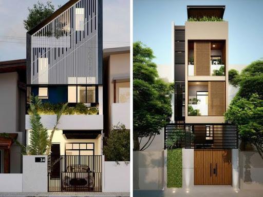 Nhà phố 3 tầng mái hiện đại đầy tính sáng tạo