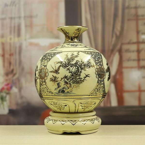 Bình gốm sứ Chu Đậu - bình gốm trang trí nhà cửa mang nhiều ý nghĩa phong thuỷ
