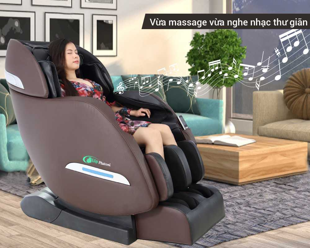 Ghế massage giúp giải tỏa căng thẳng hiệu quả